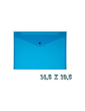 Busta con bottone A7 blu